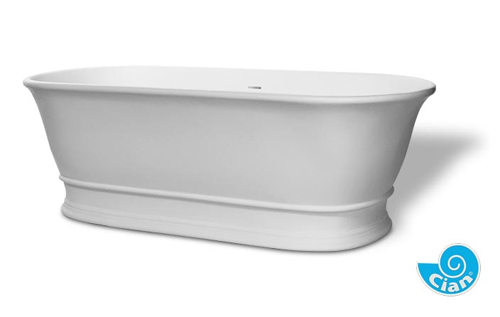 Bamptom Boutique Bath Cian Solid Cast Free Standing Classical