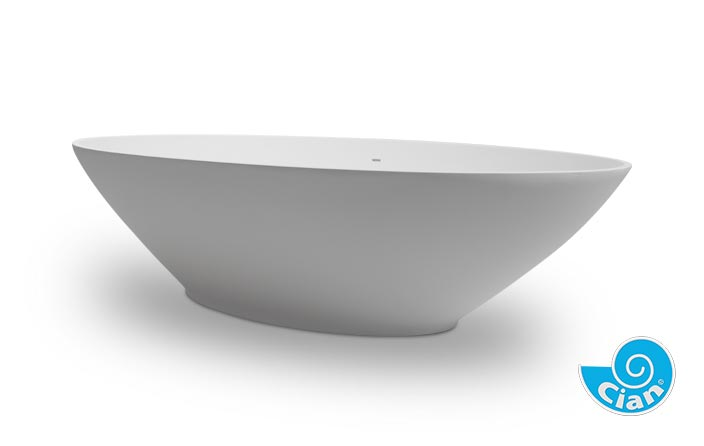Cascata Cian Free Standing Solid Cast Bath Boutique Baths