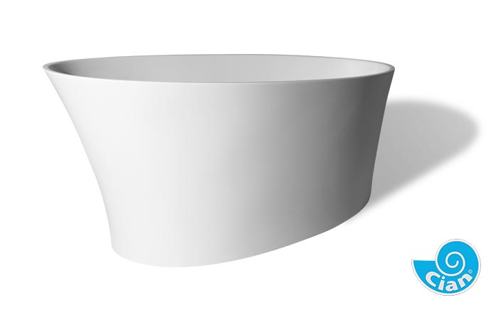 Cianti Cian Free Standing Solid Cast Bath Boutique Baths