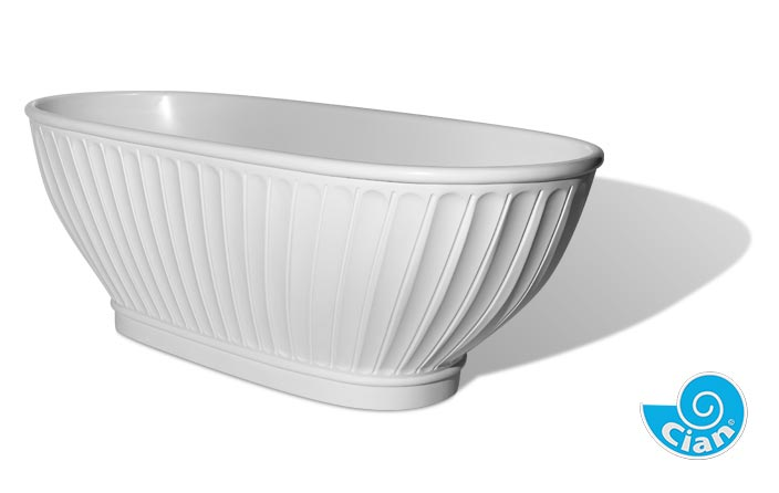 Fiance Cian Free Standing Solid Cast Bath Boutique Baths