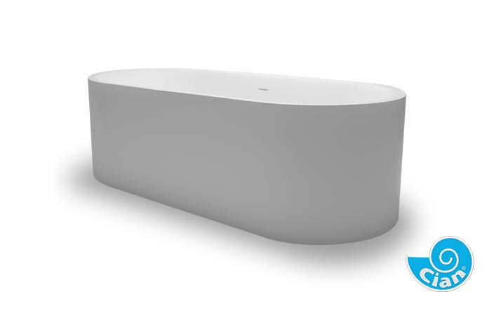 Omina Compacto Cian Free Standing Solid Cast Bath Boutique Baths