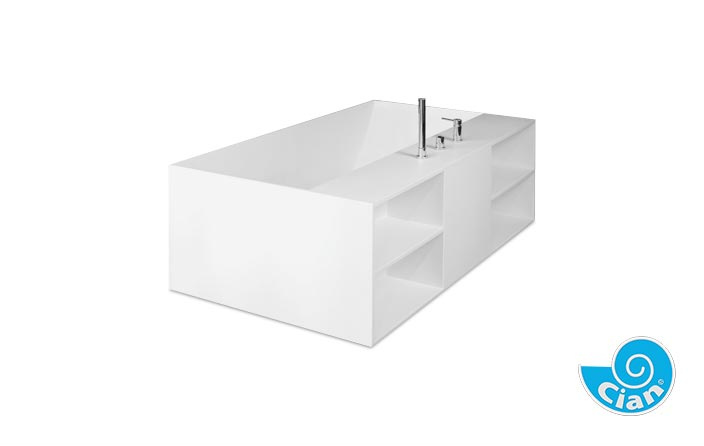 Sapphire Cian Free Standing Solid Cast Bath Boutique Baths