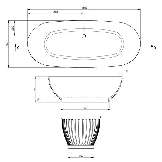 Faience Technical Specifications Drawing