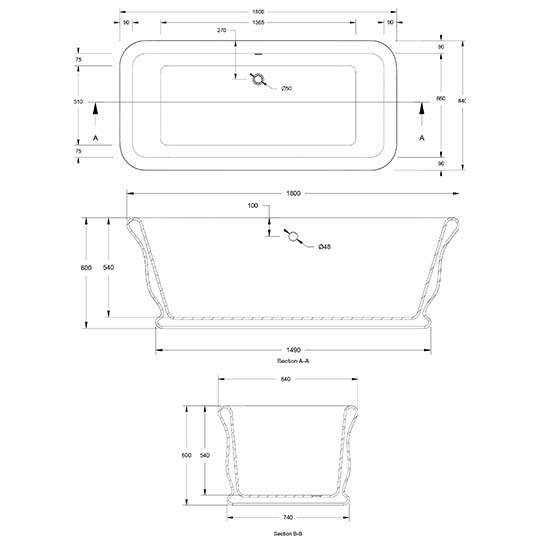 Roman Technical Specifications Drawing