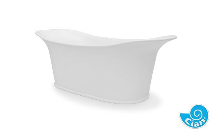 Vinciamo Cian Free Standing Solid Cast Bath Boutique Baths