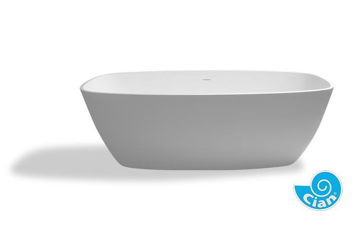 Violetta Cian Free Standing Solid Cast Bath Boutique Baths