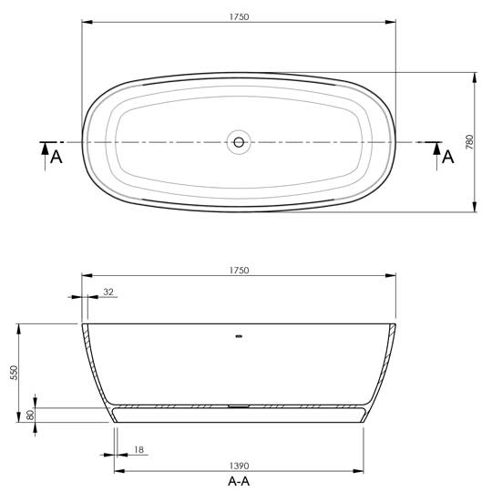 Vivace Technical Specifications Drawing
